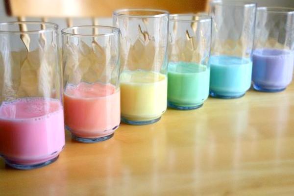 Rainbow Milk for St. Patrick's Day