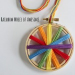 Rainbow Thread Embroidery