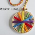 Rainbow Thread Embroidery