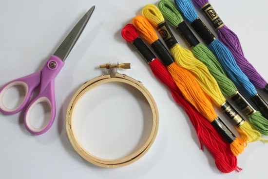 Rainbow Threaded Hoop Supplies