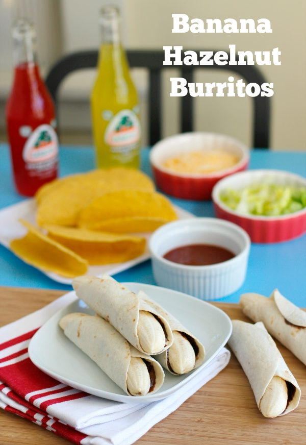 Recipe for Banana Hazelnut Burritos