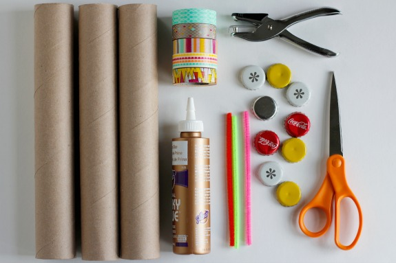 Recycled Paper Tube Train Supplies
