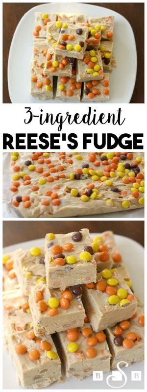 3-Ingredient Reese's Fudge