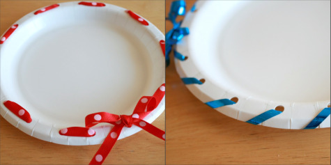 Ribbon Wreath Craft Plates