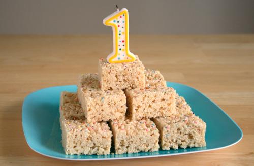 Rice Crispy Treat Birthday Cake