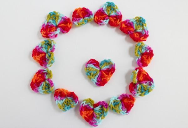 Ring of Crochet Hearts