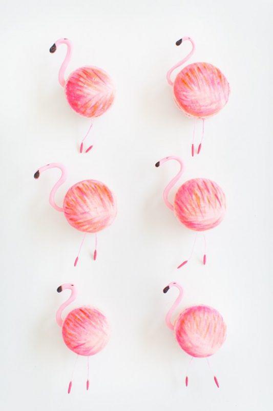 DIY Flamingo Macarons