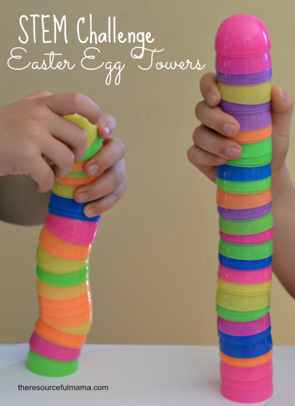 Plastic Easter Egg Towers