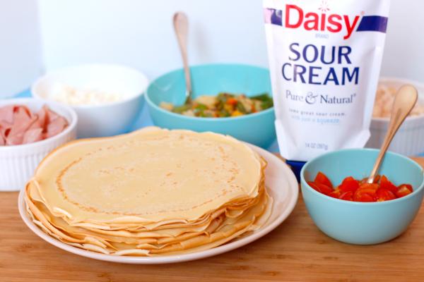 Savory Dinner Crepes Ingredients