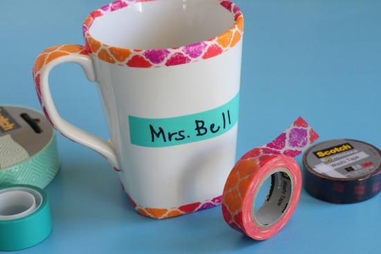 Scotch Expressions tape on a mug