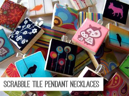 Scrabble Tile Pendant Necklaces
