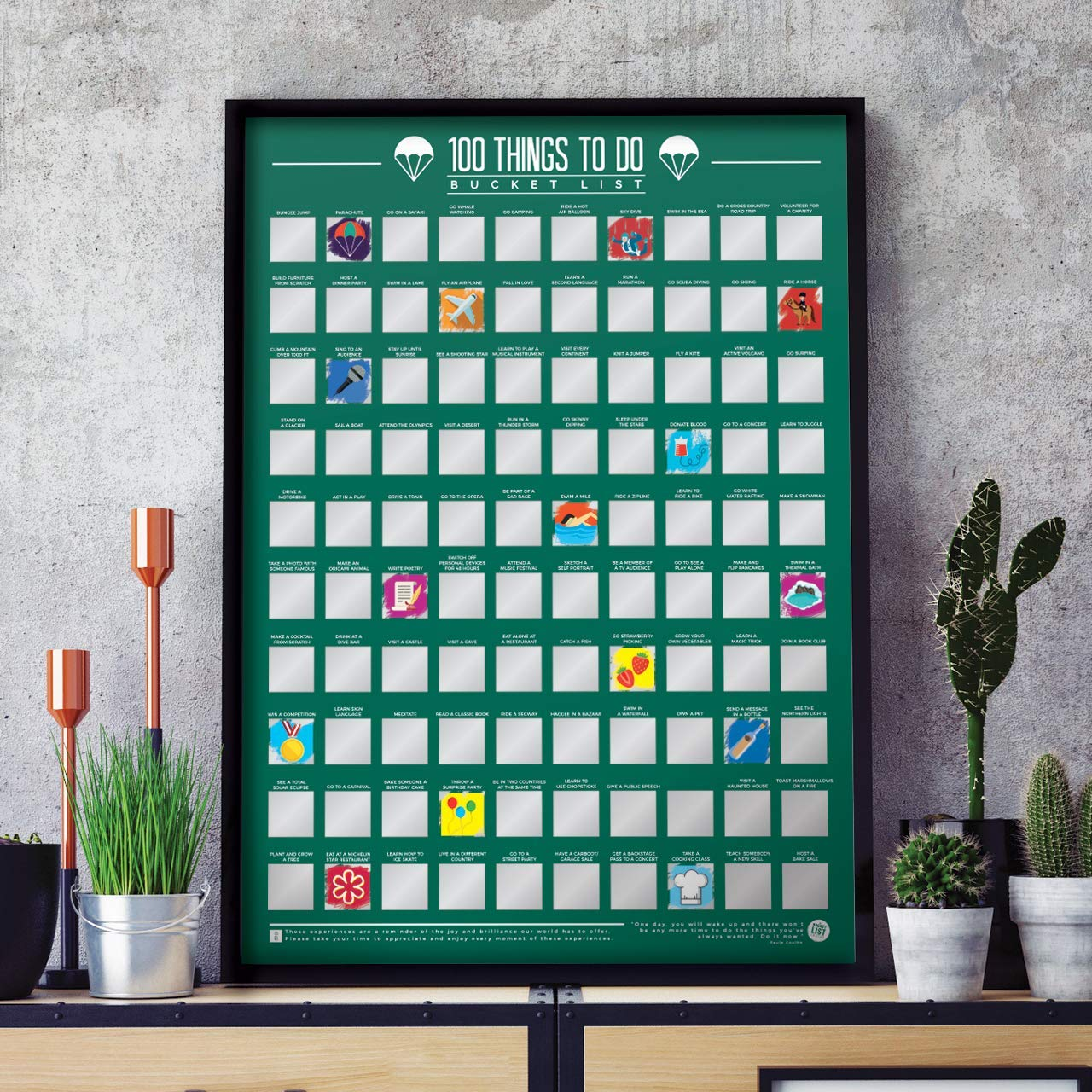 Scratch Off Things to Do Poster
