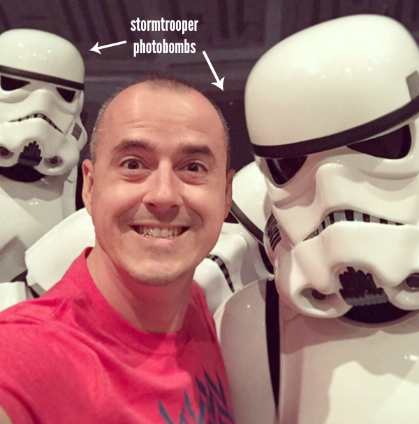 Selfies with Stromtroopers at Disney World