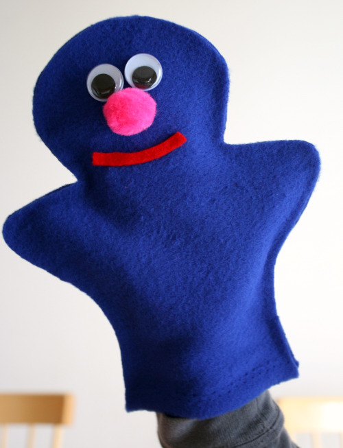Sesame Street Grover Puppet Craft