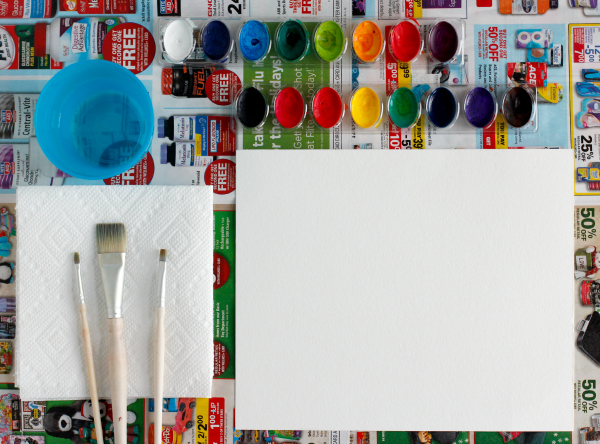 Setting Up Your Watercoloring Station