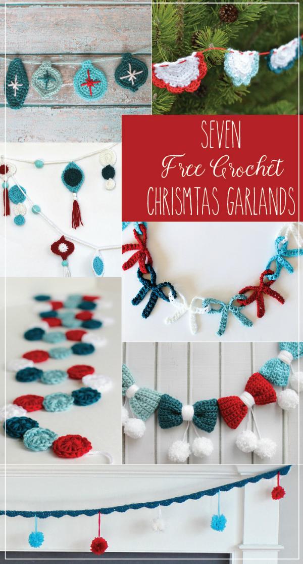Seven Free Crochet Christmas Garlands