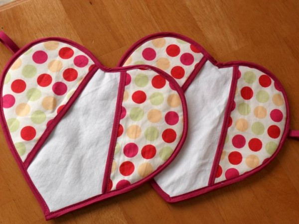 Sew Heart Potholders