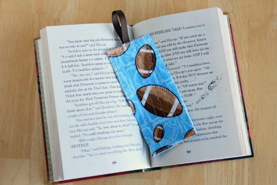 Sewing a Fabric Bookmark for Kids