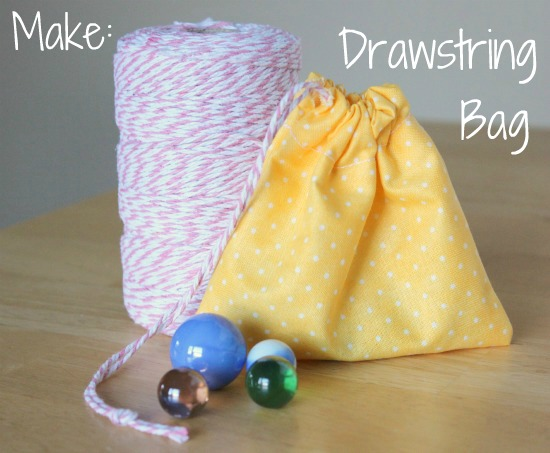 Simple Sewing for Kids: Drawstring Bag | Make and Takes