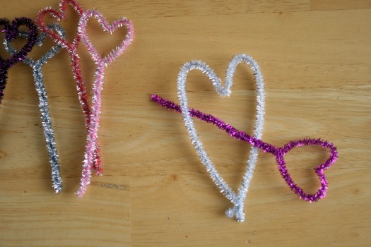 Shooting a Pipe Cleaner Heart Cupid gets crafty for Valentines