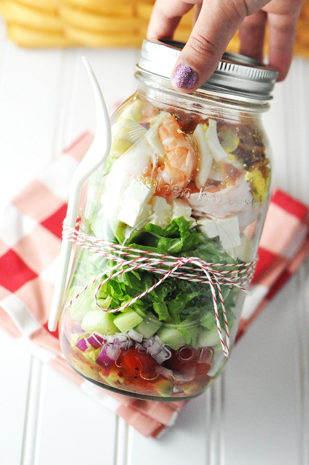 Shrimp & Feta Cobb Salad