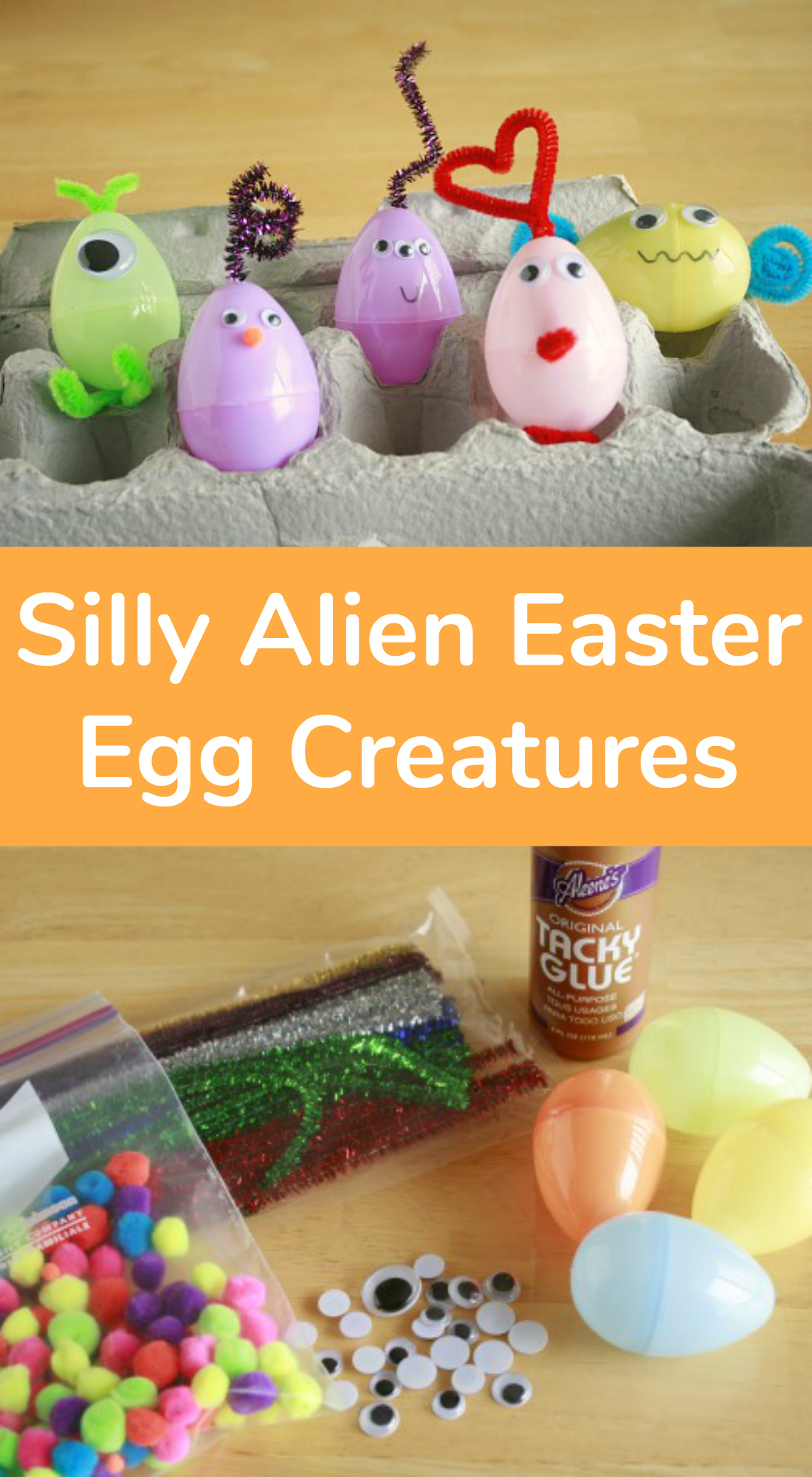 Silly Alien Easter Egg Creatures Kids Craft