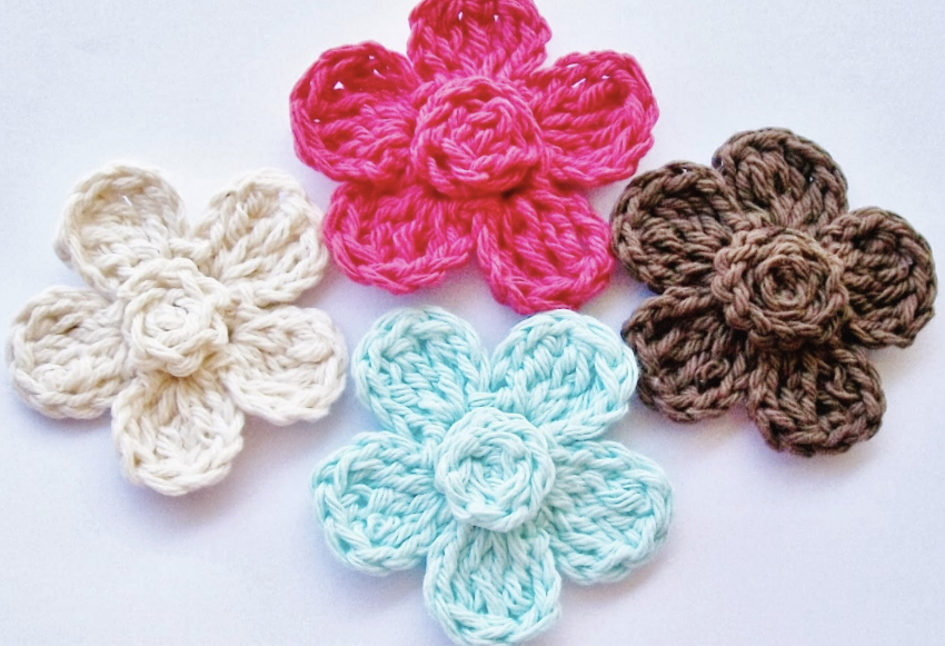 Crochet-A-Day: 4 Crochet Flower Patterns | Make and Takes