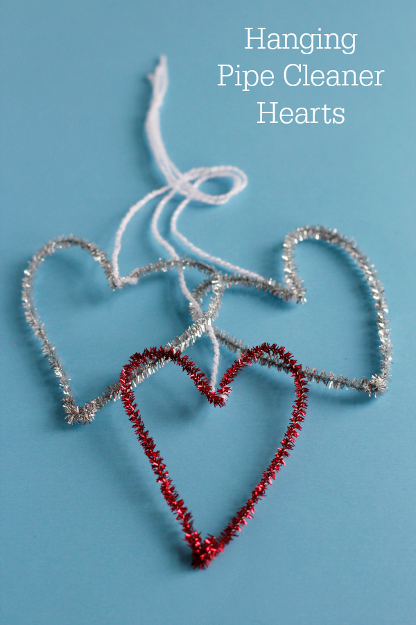 Simple Hanging Pipe Cleaner Hearts