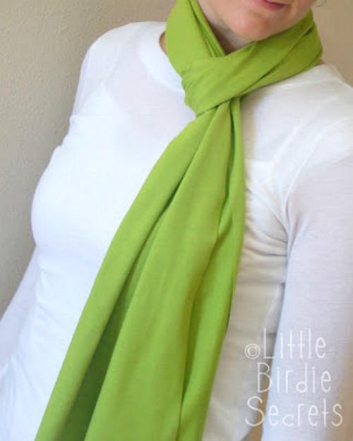 Simple Jersey Fabric Scarf Tutorial