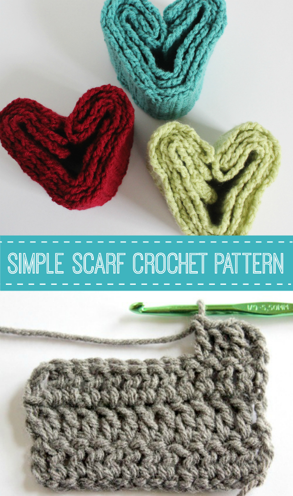 I'm happy to share my simple scarf crochet pattern with you. It's the perfect project for beginning crochet, you're going to love it! You'll want to make 10 more for all your friends in different colors!