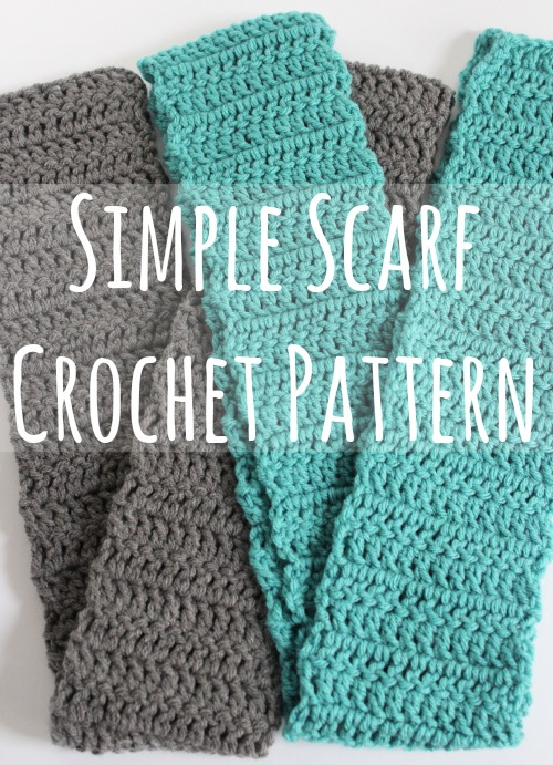 ... . Here's how I make these simple crochet scarves. Follow along