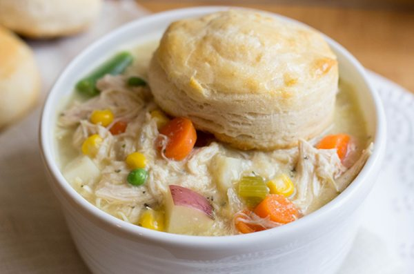 Skinny Slow Cooker Chicken Pot Pie