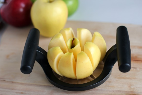 Slicing Apples for a Thanksgiving Appetizer