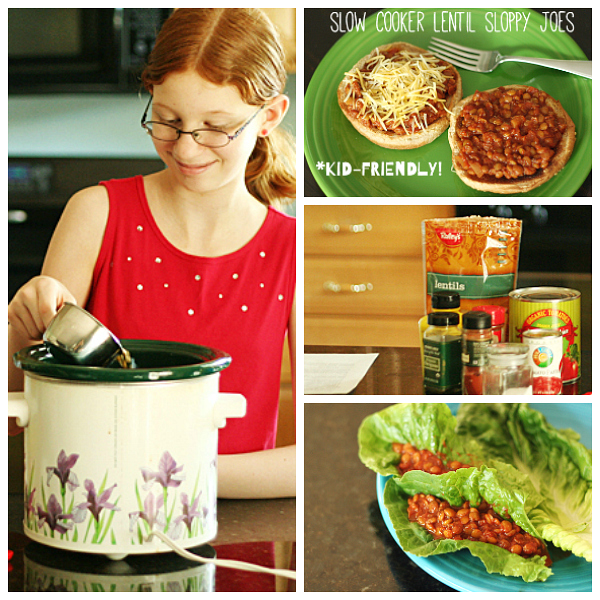 Slow Cooker Lentil Sloppy Joes Kid Friendly