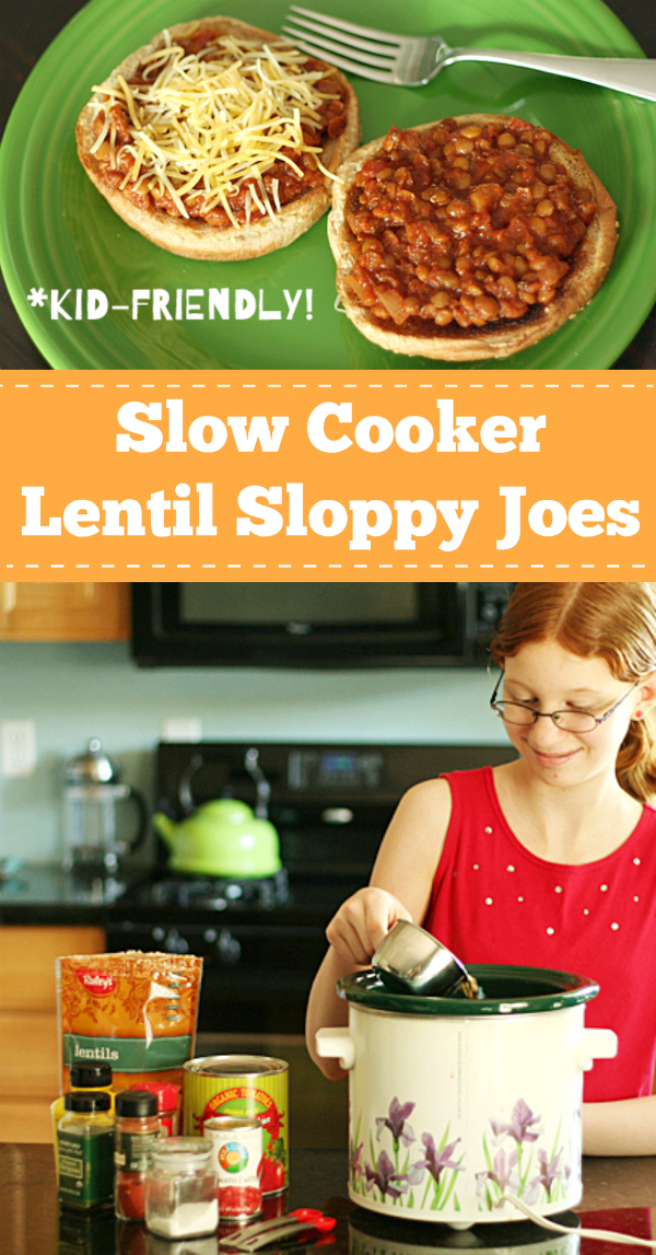 Slow Cooker Lentil Sloppy Joes