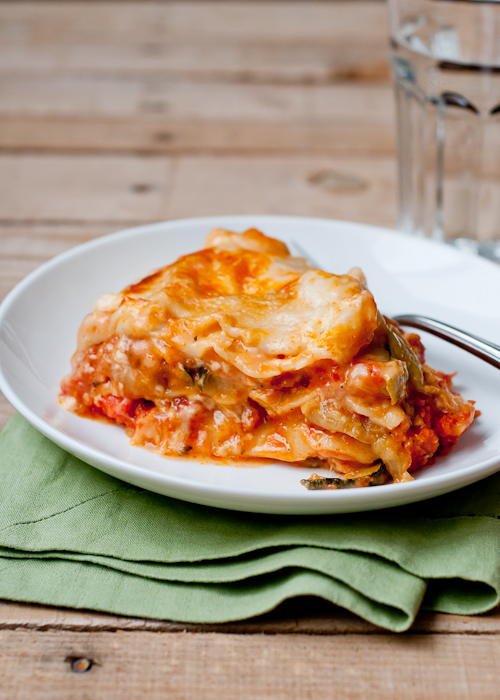 Make Slow-Cooker Roasted Vegetable Lasagna Recipe