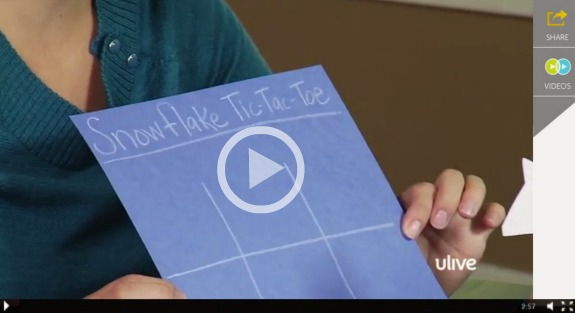Snowflake Tic Tac Toe @makeandtakes.com