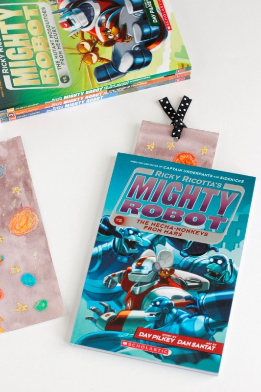 Space Bookmark for Ricky Ricotta's Might Robot Book