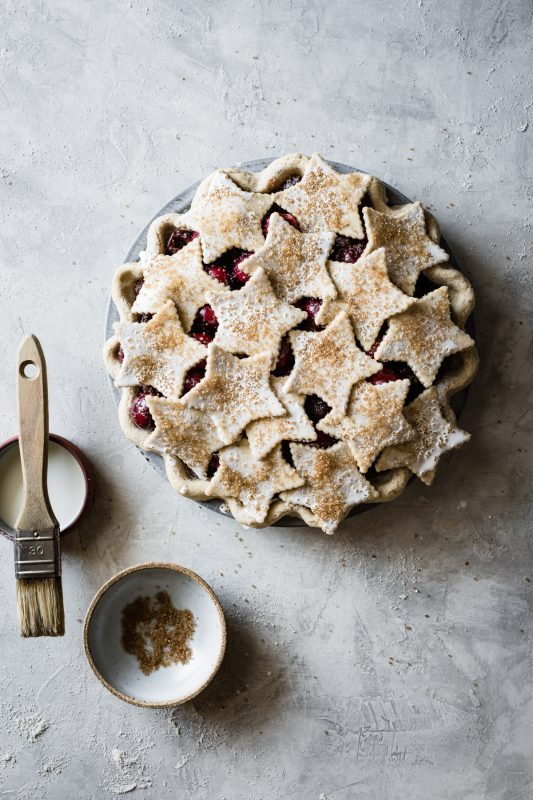 Spiced Bourbon Cherry Pie