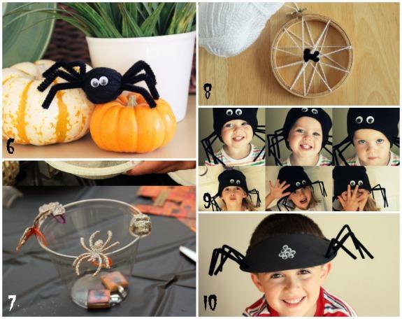 Spider Halloween Crafts makeandtakes.com