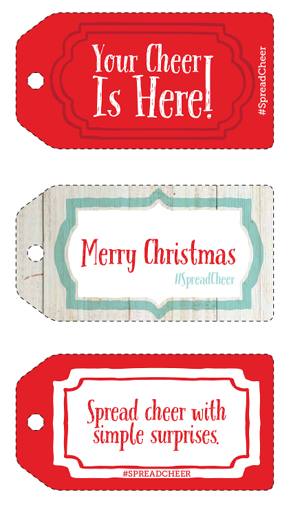 #SpreadCheer Printable Gift Tags