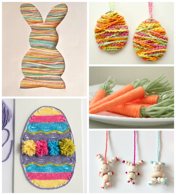 Spring-Easter-Yarn-Crafts-for-Kids