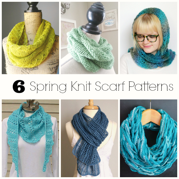 Spring Knit Scarf Patterns