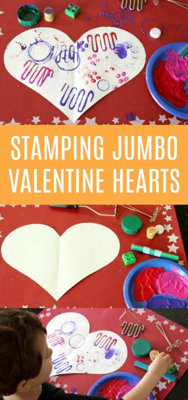 Stamping Jumbo Valentine Hearts