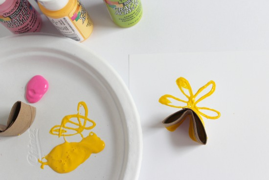 Stamping Paper Tube Flowers