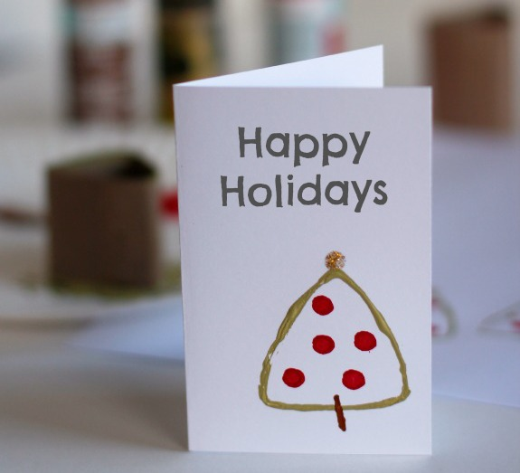 Stamping Tree Cards with Paper Tubes @makeandtakes.com