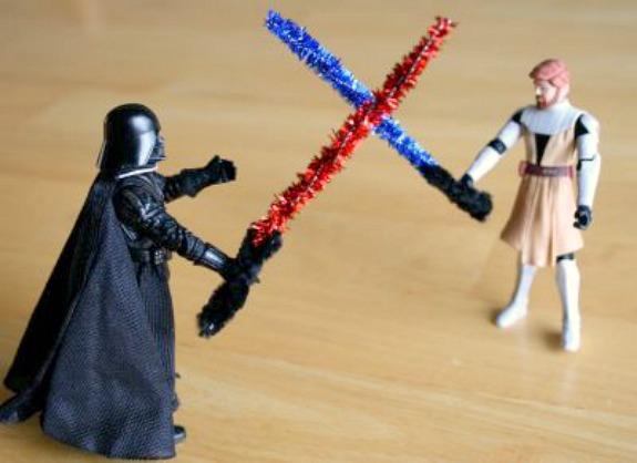 Star Wars Lightsaber Pipe Cleaner Craft