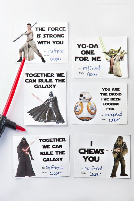 Printable Star Wars Valentine's Day Cards