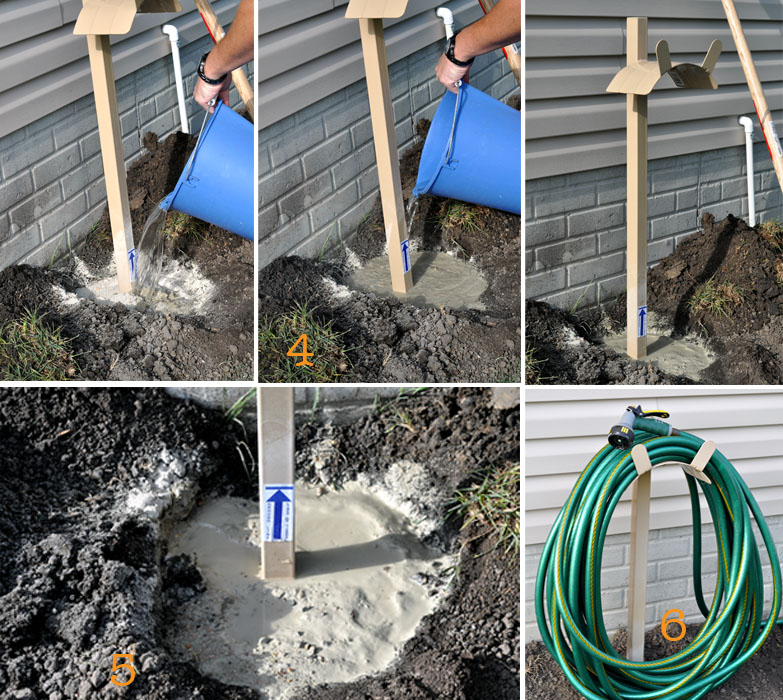 DIY Hose Stand from Home Depot