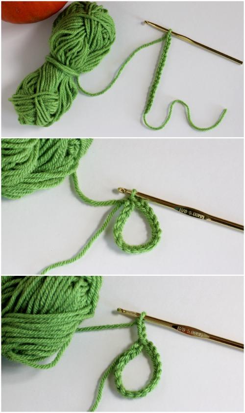 Steps to Crochet a Pumpkin Stem Cozy